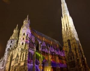 Catedrala Sf.Stefan Viena Noaptea
