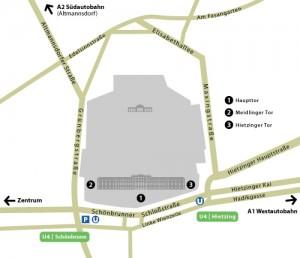 Cum ajungi la Schonbrunn