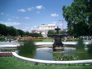 Fantana Parcul Volksgarten Viena