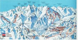 Harta schi St Moritz Elvetia