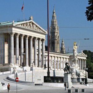 Ringstrasse Viena Parlamentul