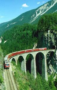 Tren catre St. Moritz
