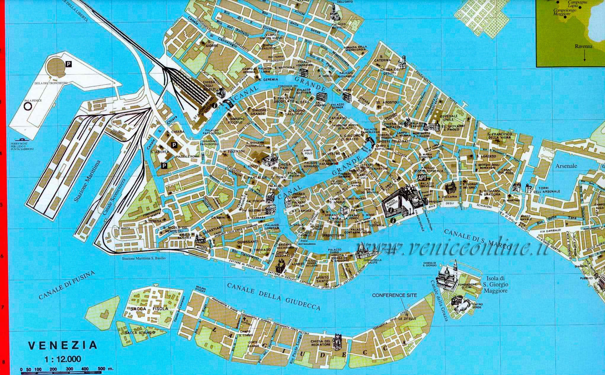 Harta Venetia Turist In Europa