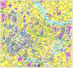 Harta obiective turistice Viena 1