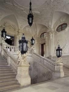 Scara de marmura Belvedere Palatul de sus