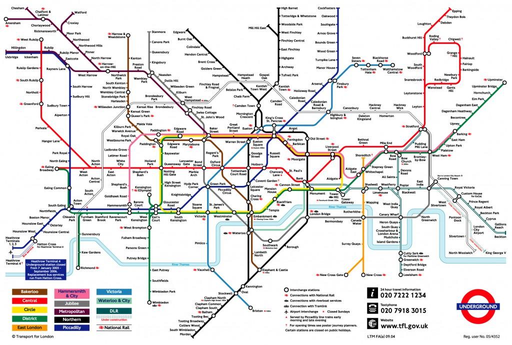 The Tube Sau Metroul Din Londra Turist In Europa